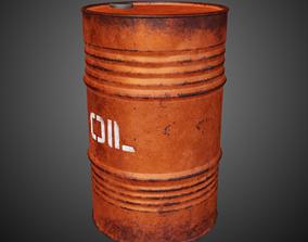 3D asset Lowpoly Pbr Game Ready Barrel