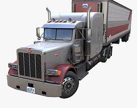 3D asset Peterbilt 379 refrigerated van trailer