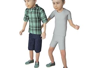 3D Boy real cloth simulation conversation loop animation 3