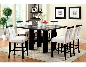 3D model Siaosi Counter Height Trestle Dining Table