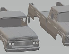 Ford F250 1959 Printable Body Car