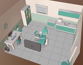 3D asset Cartoon dental office