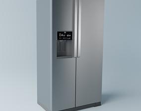 Brastemp Side by Side Refrigerator - Stainless 3D model