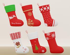 Christmas Sock 3D asset