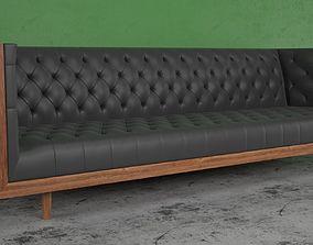 Mid Century Tufted Sofa 3D model