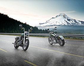 Motorcycle TR2 3D model