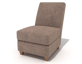 Brown Suade Chair 3D model