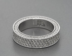 Iced out ring 3D printable model