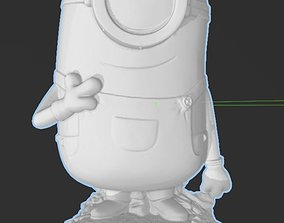 Minions - Carl - Hi RES with Base for 3d Printing