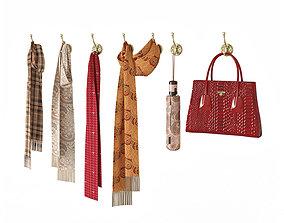 3D model Hallway set scarf-bag-umbrella