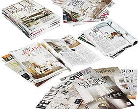Magazines Stacks 3D model