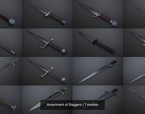 Assortment of Daggers 3D model PBR