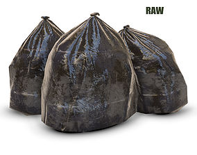3D model garbage bag - PBR Game-Ready