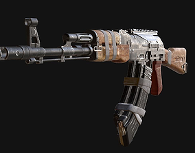 custom ak74 3D asset