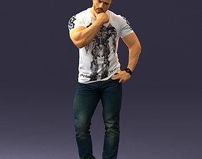 Man in pose 0117 3D Print Ready
