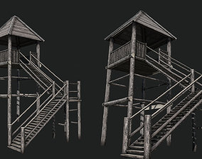 Viking Guard Tower 3D asset