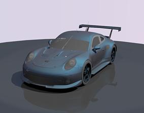 3D asset rigged Porsche 911 RSR