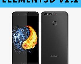 E3D - Huawei Honor 8 Pro Black 3D