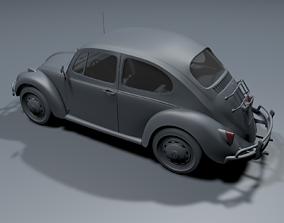 3D model 1960s VW Volkswagen Beetle BUG