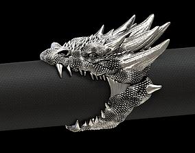 Dragon biker ring 3D print model
