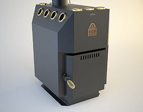 3D SiberStove Long-Burning Solid-Fuel Air Heater Professor
