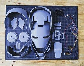 Iron Man Helmet Articulated Wearable 3D printable model