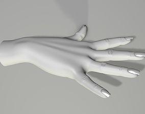 Hand 3d model Right Withoat Textur fingernail