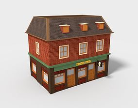 Irish Pub Low Poly 3D model