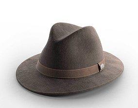 Traveller Maroon Hat old 3D model