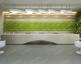 3D modern office and hotel reception