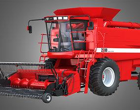 IH 1688 Combine Harvester - with Forage Harvester 3D model