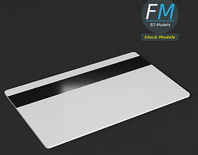 3D model Plastic card with magnetic strip