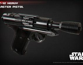 3D printable model DT-12 heavy blaster pistol