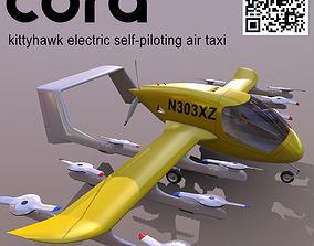 CORA kittyhawk electric self-piloting air taxi 3D asset