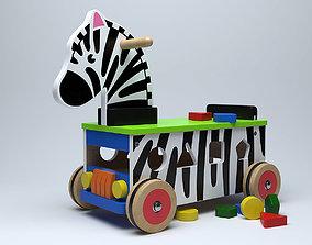 3D model Ride-On Zebra