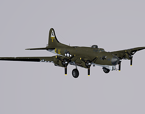 B-17G Flying Fortress 3D asset