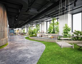 3D model Office relax space modern