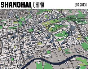 3D model Shanghai city
