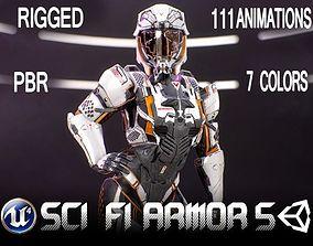 3D asset Sci-Fi Armor 10