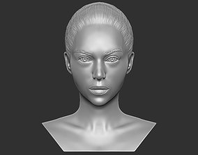 Beautiful woman bust 3D printing ready TYPE 9