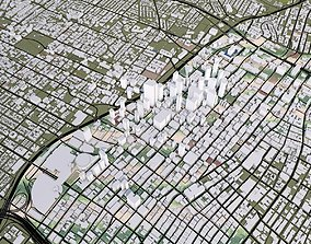 3D model Los Angeles City