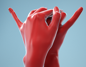 Intimate Realistic Hands Model 17