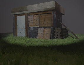 3D model game-ready Shack