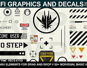 3D Sci-fi Graphics and Decals
