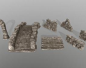 3D model ruin set