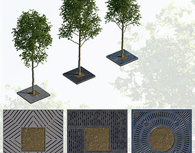 3D Trees and steel grating