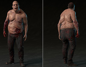 Fat Zombie 3D model rigged VR / AR ready