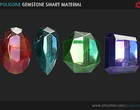Poligone Gemstone Smart Material for Substance 3D model