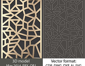 3D decorative panel model and vector