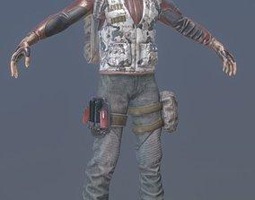 Rigged Mercenary B 3D model